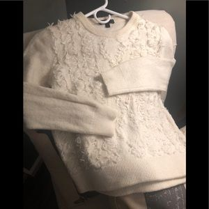 Cream J. Crew sweater